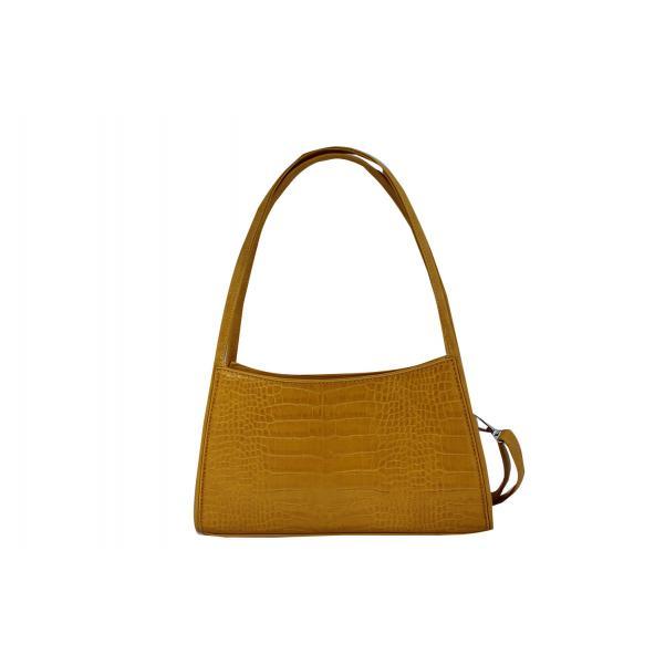 Дамска Чанта от Еко Кожа цвят горчица