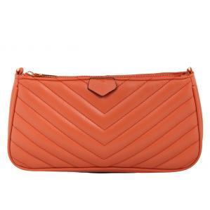 Дамска Чанта от Еко Кожа цвят керемидено оранжево плюс подвижно портмоне