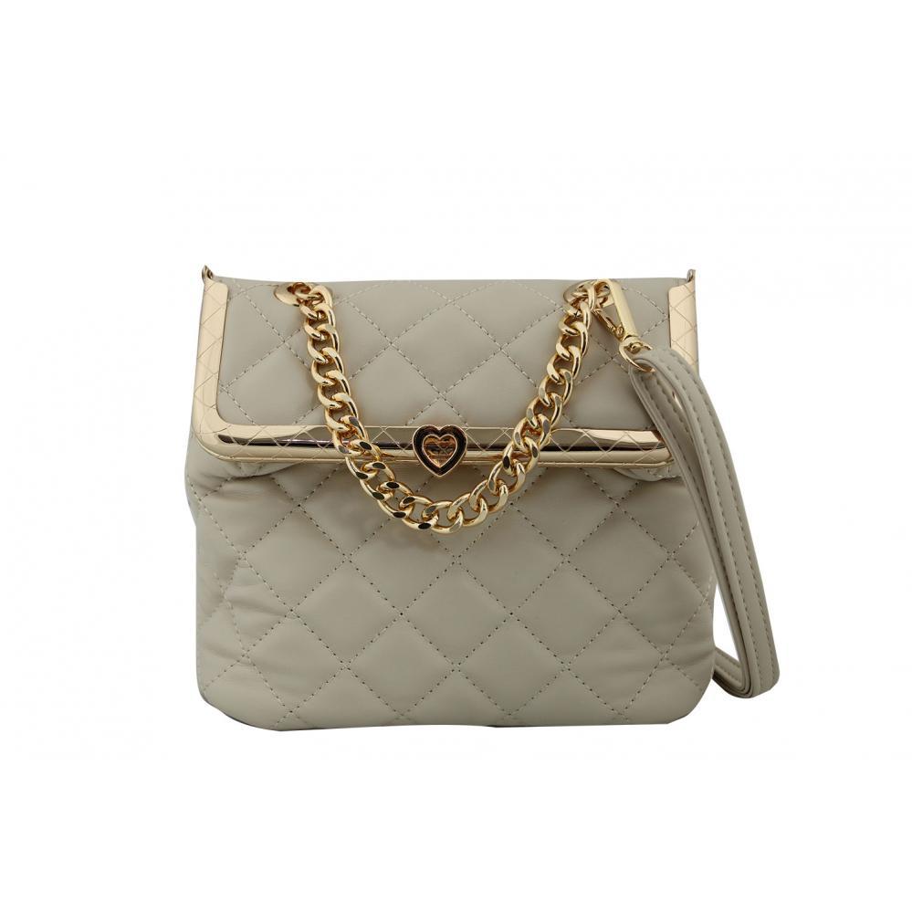 Дамска Чанта от Еко Кожа цвят бежов