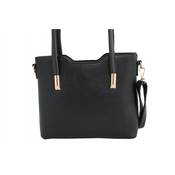 Дамска чанта от еко кожа - черна