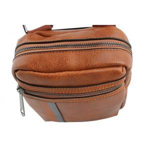 Мъжка чанта от еко кожа цвят  кафяв