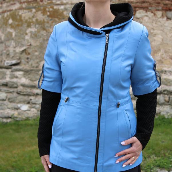 Дамско яке от Агнешка напа цвят светло син
