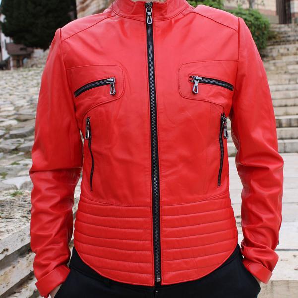 Дамско  яке от Агнешка напа цвят червен