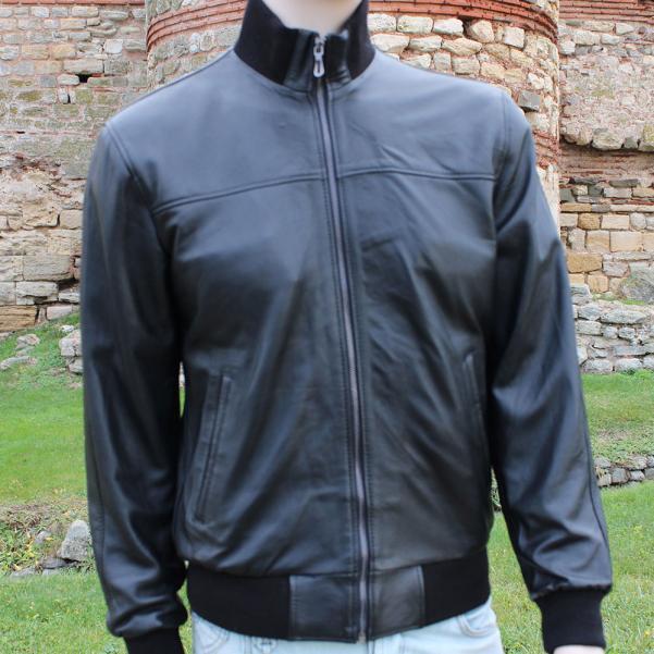 Мъжко яке от Агнешка напа цвят черен