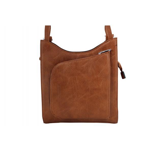 Дамска чанта- раница от еко кожа цвят кафяв