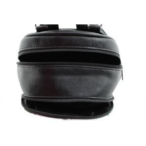 Дамска Раница от Еко Кожа основен цвят черен,комбиниран с цветен принт